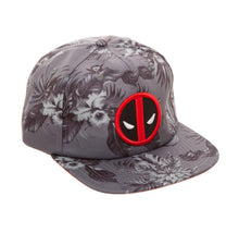 Load image into Gallery viewer, Bioworld Licensed Deadpool - Marvel Comics - Floral AOP Grey Buckle Hat
