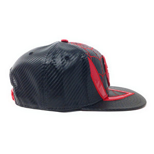 Bioworld Licensed Spider-man Miles Morales Carbon Fiber Suit Up Red/Black Snapback Hat