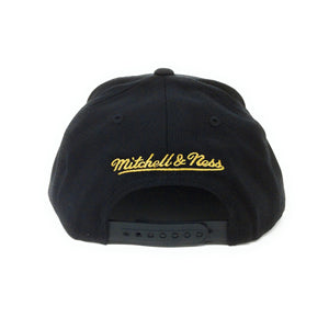 Mitchell and Ness Los Angeles Lakers Logo Gold/Black Snapback Hat