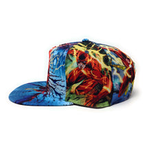 Load image into Gallery viewer, Bioworld Licensed The Flash Allover Sublimated Blue Snapback Hat