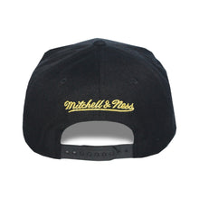 Load image into Gallery viewer, Mitchell & Ness Toronto Raptors Black/Gold Partial Logo Snapback Hat