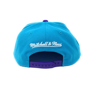 Mitchell and Ness Charlotte Hornets - Logo Blue/Purple Snapback Hat