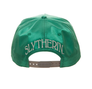 Bioworld Licensed Harry Potter - Slytherin - Satin Metallic Embroidery Green/Grey Snapback Hat