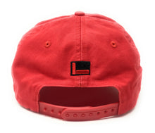 "Load image into Gallery viewer, FUBU ""FB"" Logo 25th Anniversary Dad Red Snapback Hat"