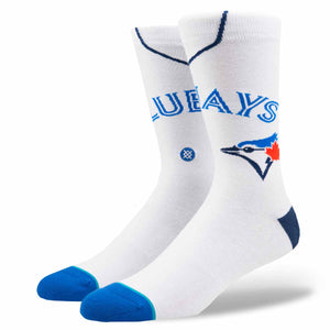 Stance Toronto Blue Jays Home White Socks - Large