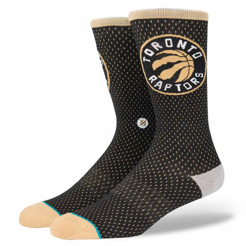 Stance Toronto Raptors Jersey Gold/Black Socks