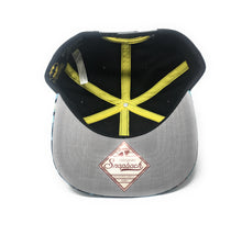 Load image into Gallery viewer, Bioworld Licensed Batman Carbon Fiber Black/Yellow Snapback Hat