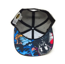 Load image into Gallery viewer, Batman Logo - 3D Embroidery - With Sublimated Graphic Under Brim Grey/Black Snapback Hat