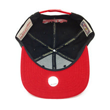 Load image into Gallery viewer, Mitchell and Ness Toronto Raptors Retro Logo Red/Black Snapback Hat