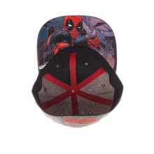 Load image into Gallery viewer, Bioworld Licensed Deadpool Logo Grey Flex Fit Hat