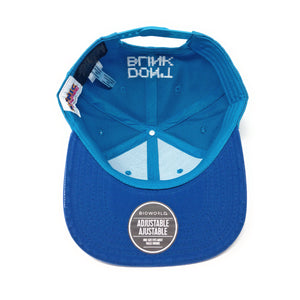 "Bioworld Licensed Sonic The Hedgehog ""Don't Blink"" Pixelated Digital Blue PU Leather Brim Snapback Hat"