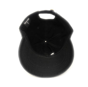 Trap Lord Core Logo Black Unstructured Strapback Dad Hat