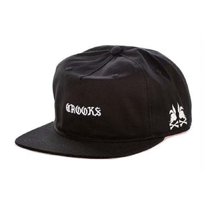Crooks & Castles Skull Bunny Black Unstructured Snapback Hat