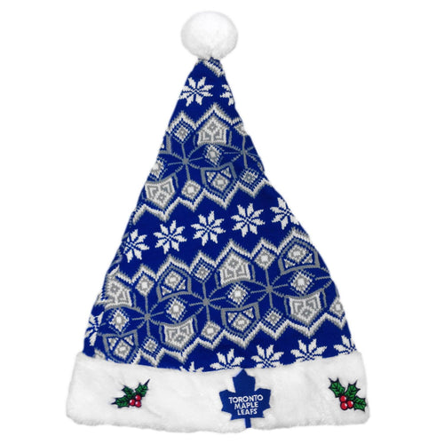 Toronto Maple Leafs Knit Santa Hat - One Size