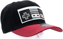 Load image into Gallery viewer, Bioworld Licensed Nintendo Controller Ballistic Curved Brim Black/Red Snapback Hat