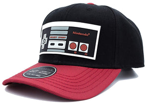 Bioworld Licensed Nintendo Controller Ballistic Curved Brim Black/Red Snapback Hat