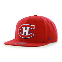 Load image into Gallery viewer, 47 Brand Montréal Canadiens Sure Shot Snapback Red Cap