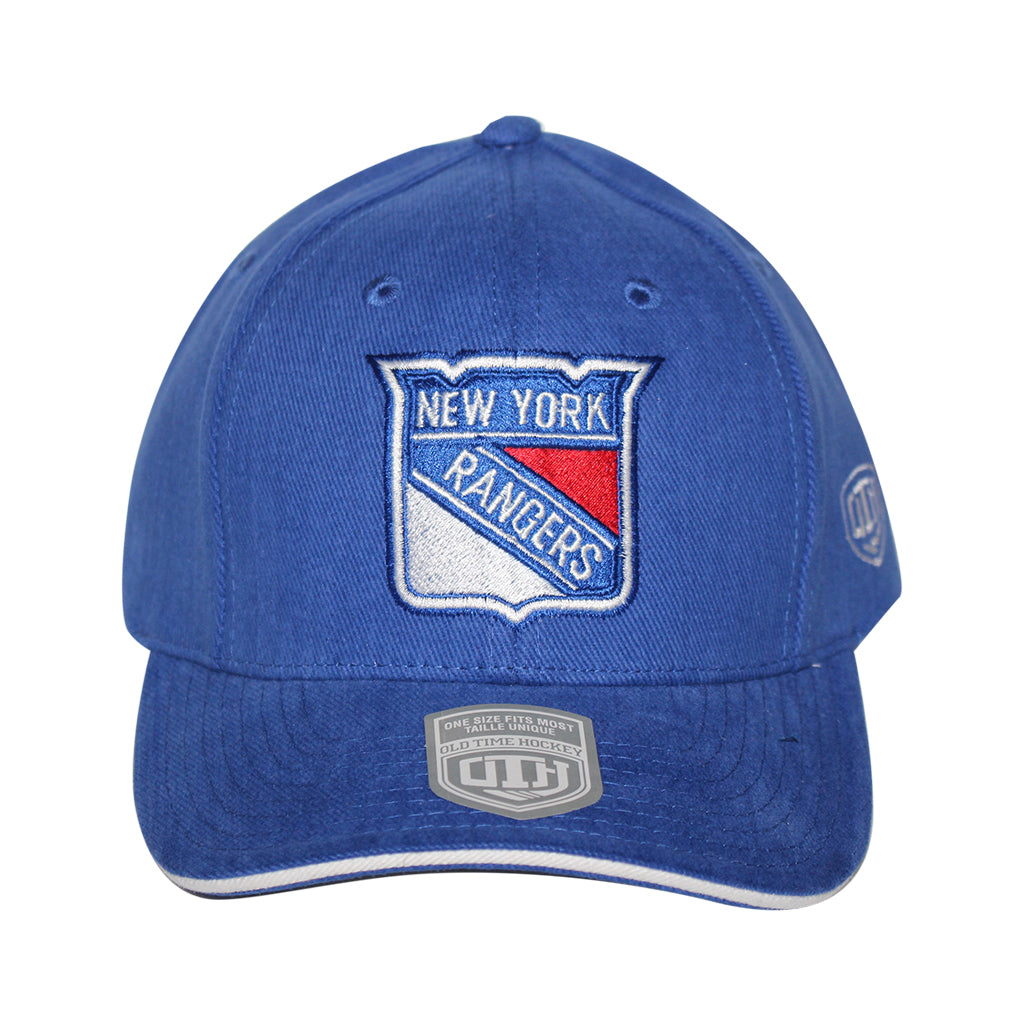 Old Time Hockey Blue New York Rangers Raised Replica 3 Velcro Cap