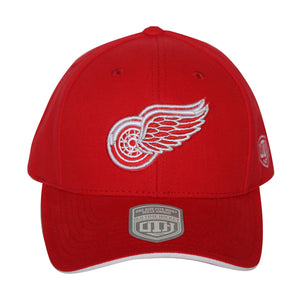 Old Time Hockey Red Detroit Red Wings Raised Replica 3 Velcro Cap