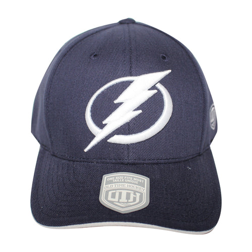 Old Time Hockey Blue Tampa Bay Lightning Raised Replica 3 Velcro Cap