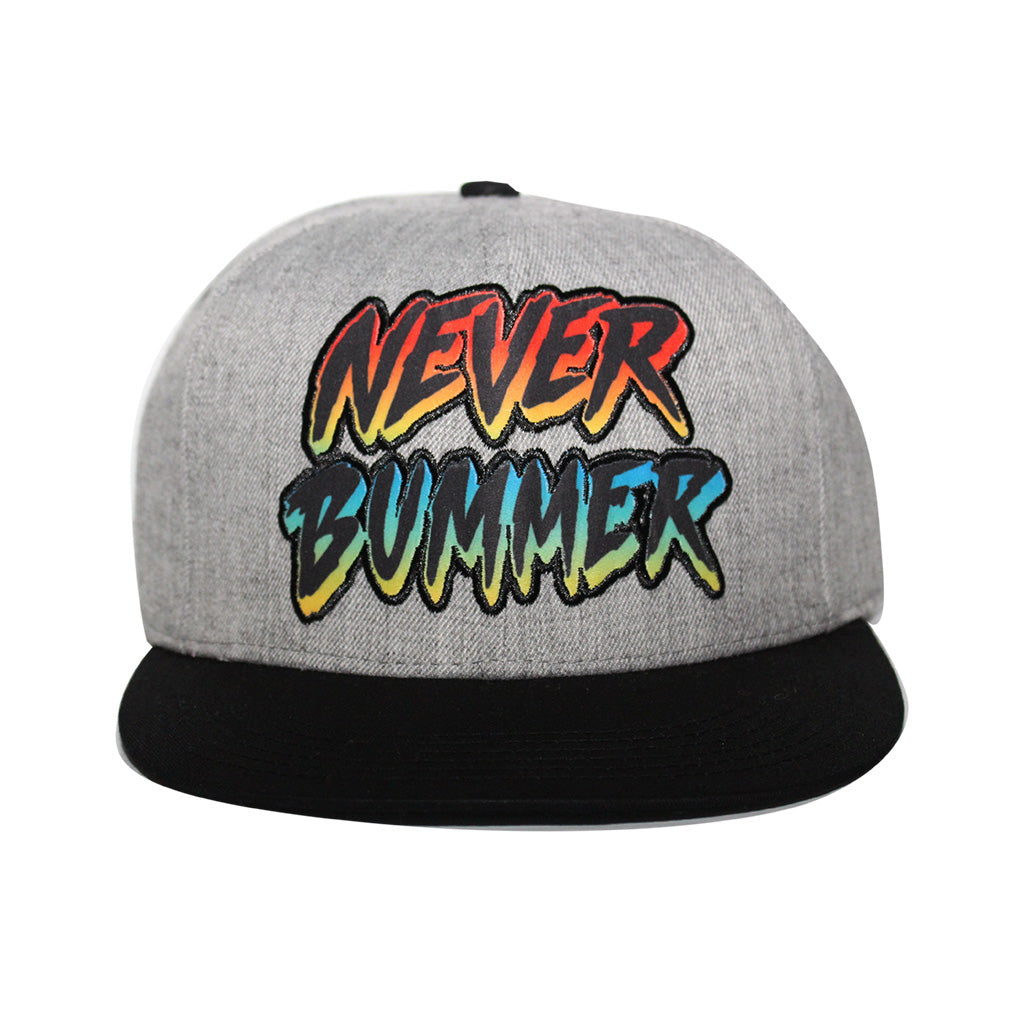 Concept One Licensed Shaun White - Never Bummer Grey Snapback Hat
