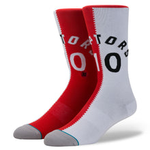 Load image into Gallery viewer, Stance Toronto Raptors Derozan Split Jersey Red Socks