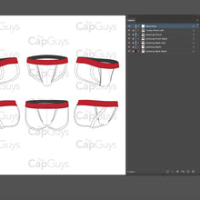 Load image into Gallery viewer, Jockstrap - Mockup and Template - 6 Angles, 1 Style, Layered, Detailed and Editable Vector in EPS, SVG, AI, PNG, DXF and PDF