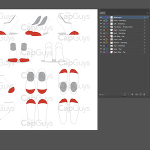 LIner No Show Ankle Socks - Mockup and Template - 11 Angles, Layered, Detailed and Editable Vector in EPS, SVG, AI, PNG, DXF and PDF