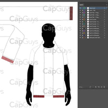 Load image into Gallery viewer, Scarf/Scarves - Mockup and Template - 3 Styles, Layered, Detailed and Editable Vector in EPS, SVG, AI, PNG, DXF and PDF