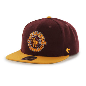 47 Brand Cleveland Cavaliers Sure Shot Two Tone 47 Captain Dark Maroon/Yellow Cap