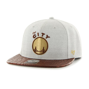 "47 Brand Golden State Warriors ""The City"" Orinoco 47 Captain Grey/Brown/Gold Cap"