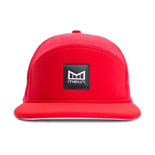 Melin Brand Baywatch Neoprene and Corduroy Red Snapback Hat