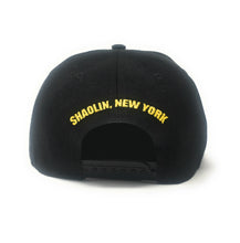 Load image into Gallery viewer, Wu-Tang Clan Big Logo Black/Yellow Snapback Hat