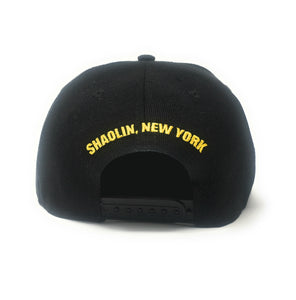 Wu-Tang Clan Big Logo Black/Yellow Snapback Hat