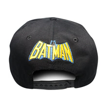 Load image into Gallery viewer, Concept One Black/Yellow Licensed Batman Classic Logo Snapback Hat