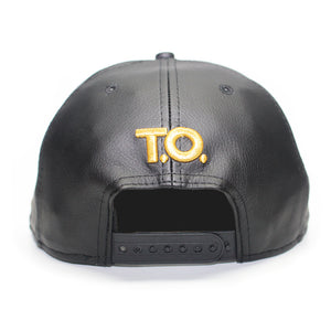 Hustle - T.O. - The Cap Guys TCG / Inspired Exclusives Gold and Black Snapback Cap