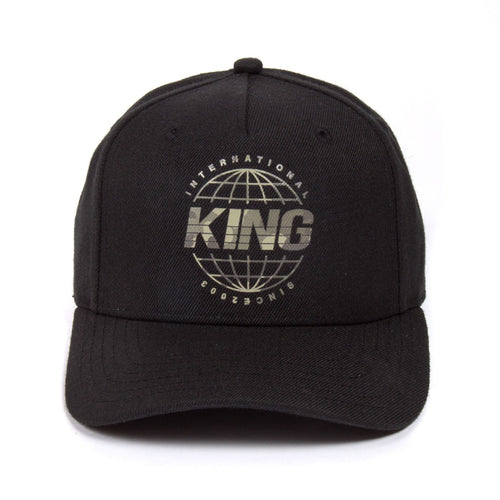King Apparel Bethnal Curved Peak Black Snapback Hat