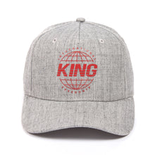 Load image into Gallery viewer, King Apparel Bethnal Curved Peak Grey Stone Snapback Hat