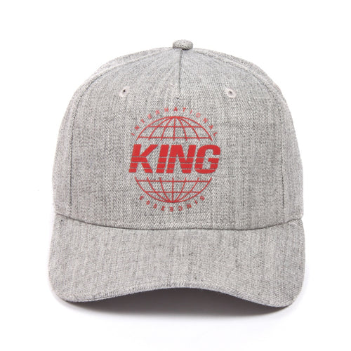 King Apparel Bethnal Curved Peak Grey Stone Snapback Hat