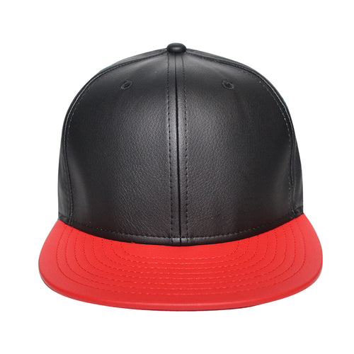 Origins - The Cap Guys TCG / Inspired Exclusives Black And Red PU Leather Snapback Cap