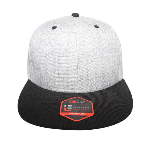 Origins - The Cap Guys TCG / Inspired Exclusives Heather Grey And Black Snapback Cap