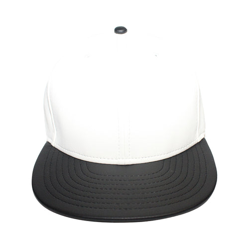 Origins - The Cap Guys TCG / Inspired Exclusives White And Black PU Leather Snapback Cap