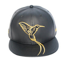 Load image into Gallery viewer, The Doctor Bird - Jamaica - The Cap Guys TCG / Inspired Exclusives Gold And Black Snapback Cap