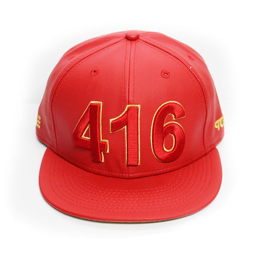 416 Toronto - The Cap Guys TCG / Inspired Exclusives PU Gold/Red Strapback Cap