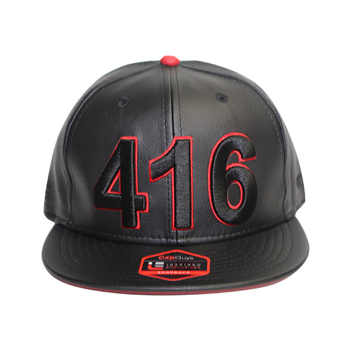 416 Toronto - The Cap Guys TCG / Inspired Exclusives PU Black/Red Snapback Cap