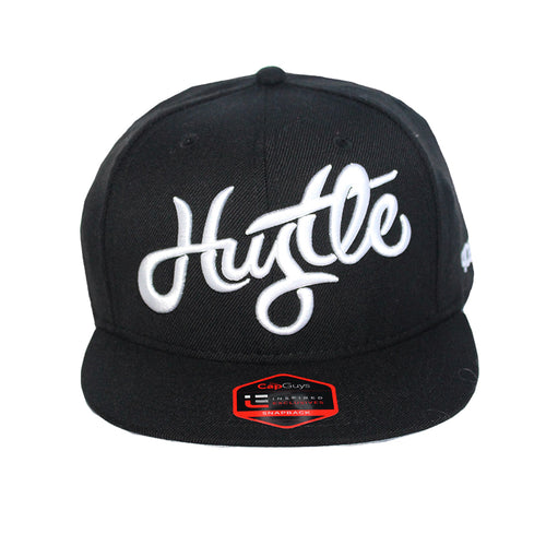 Hustle - T.O. - The Cap Guys TCG / Inspired Exclusives White and Black Snapback Cap