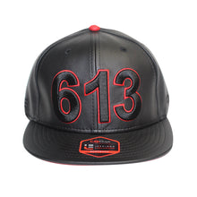 Load image into Gallery viewer, 613 - The Cap Guys TCG / Inspired Exclusives PU Black/Red Snapback Cap