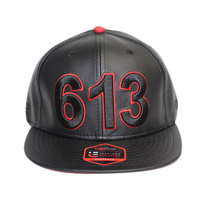 613 - The Cap Guys TCG / Inspired Exclusives PU Black/Red Snapback Cap