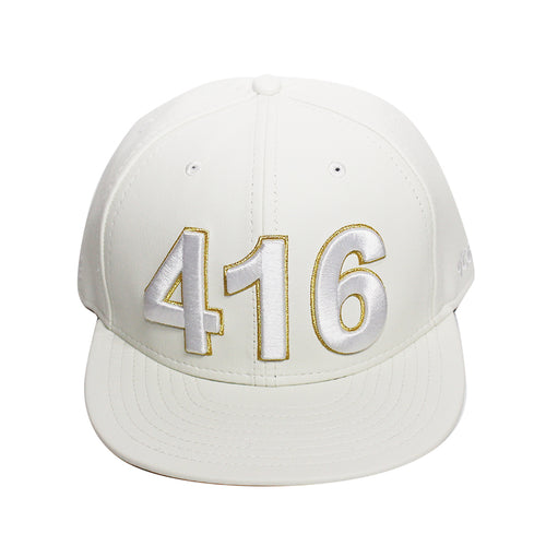 416 Toronto - The Cap Guys TCG / Inspired Exclusives PU White/Gold Snapback Cap