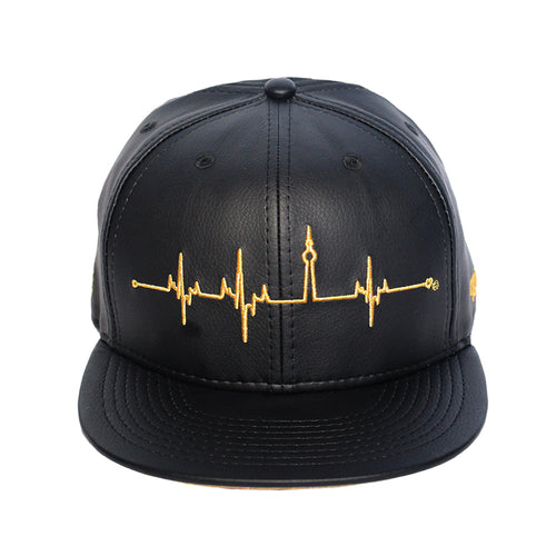 HeartBeats T.O. - The Cap Guys TCG / Inspired Exclusives Gold and Black Strapback Cap